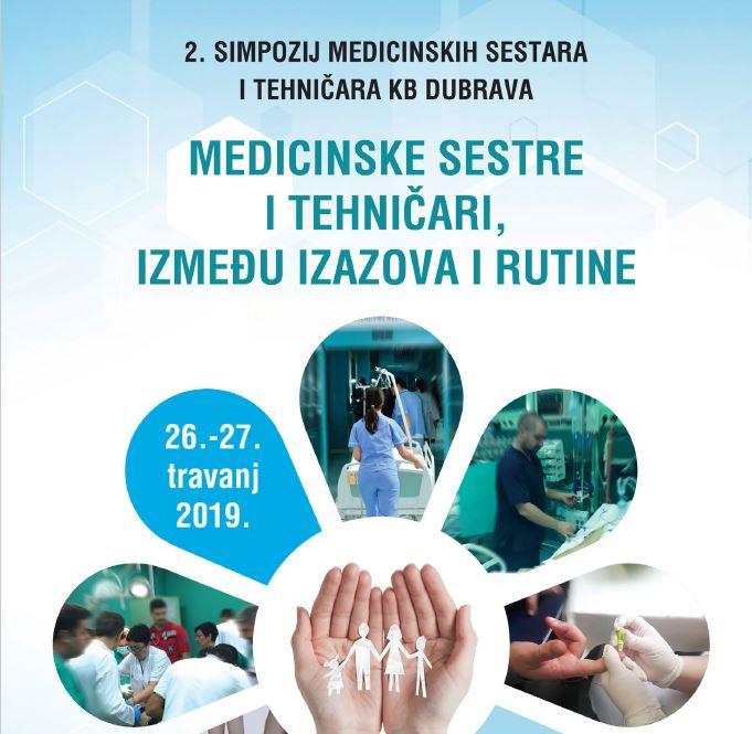 Pozivnica za 2. simpozij medicinskih sestara i tehničara KB Dubrava