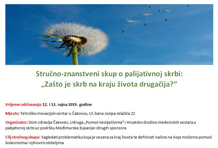 Stručno-znanstveni skup o palijativnoj skrbi u Čakovcu, 12. i 13.09.2019.