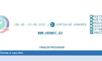 Program-1. Kongres Hrvatskog društva onkoloških medicinskih sestara i tehničara